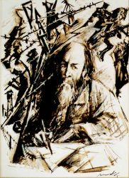 Portrait d'Alexandre Soljenitsyne
