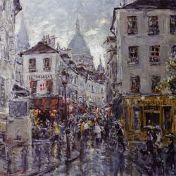 Montmartre in The Rain