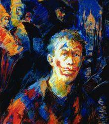Self-Portrait with Venetian Masks