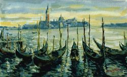 Venice, Gondolas and San Giorgio Maggiore